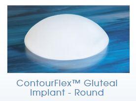 Round silicone butt implan
